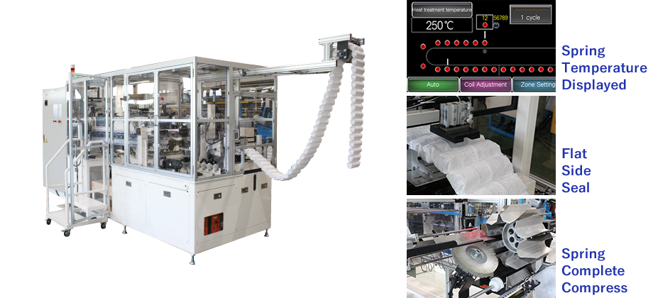 TECMIC pocket spring assembly machine: PKT-330